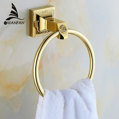 Wholesale & Retail Carving Golden Brass Wall Mounted Towel Ring Unique Design Bathroom Bath Towel Rack 82307 - ICON2 Luxury Designer Fixures   #Wholesale #& #Retail #Carving #Golden #Brass #Wall #Mounted #Towel #Ring #Unique #Design #Bathroom #Bath #Towel #Rack #82307