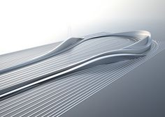 The late Zaha Hadid contributed a proposal to the Visonary Crazy Golf course scheme, featuring her characteristic undulating forms