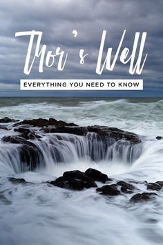 Everything You Need to Know About Thor's Well Oregon Coast // Local Adventurer #thorswell #oregon #oregoncoast