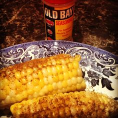 Corn on the cob with Old Bay Seasoning - The only possible modification you might need is to use a non-dairy margarine or vegan butter if you want a buttery flavor. Otherwise, this traditional favorite is already vegan! #recipes #grilling