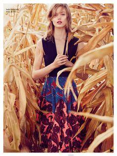 Vogue Australia December 2014   Lindsey Wixson by Will Davidson - Stella McCartney