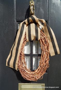 Number Fifty-Three: DIY Copper Grapevine Wreath