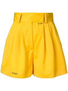 Yellow wool blend and silk stretch high rise shorts from STYLAND. Stage Outfits, Kpop Outfits, Short Outfits, Summer Outfits, Casual Outfits, Fashion Outfits, Short Elegantes, Yellow Clothes, Yellow Shorts