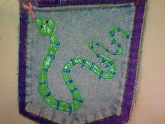 Swirly Snake Changed Pocket. $10.00, via Etsy.