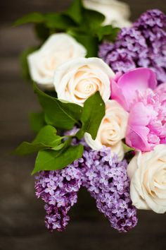 I really want lilacs in my bouquet. Not a deal breaker though since there is only a few weeks that I would be able to have them, unless I want them imported