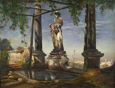 Brunnenanlage in Italien von Oswald Achenbach
