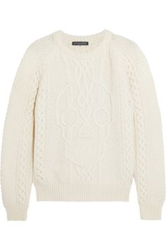 Alexander McQueen Cable-knit wool and cashmere-blend sweater NET-A-PORTER.COM