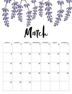 Home Remodel Fireplace March Free Printable Calendar 2020 - Floral. Monthly calendar pages. Cute office or desk organization. Blank Calendar Pages, Calendar March, Cute Calendar, Printable Blank Calendar, Monthly Calendar Template, Print Calendar, 2021 Calendar, Calendar Ideas, Calendar Calendar