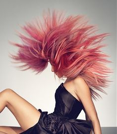 Multi Tonal Pink Hairstyle