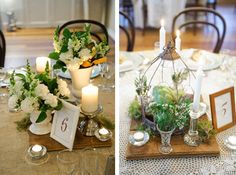 Rustic charm and leafy centrepieces