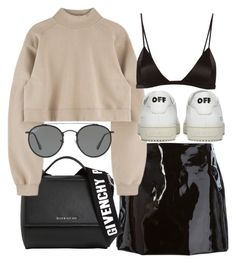 """""""Untitled #21024"""" by florencia95 ❤ liked on Polyvore featuring Au Jour Le Jour, Givenchy, Fleur du Mal, Off-White and Ray-Ban"""