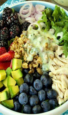 Chicken  Fresh Berry Salad