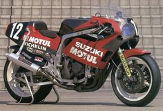 ヨシムラ・スズキ GSX-R750(1986年 3位 油冷直4)- 鈴鹿八耐の伝説 (1) 最強HONDAとその挑戦者 Suzuki Motos, Suzuki Motorcycle, Racing Motorcycles, Moto Car, Gsxr 750, Cafe Racer, Super Bikes, Custom Bikes, Cool Bikes