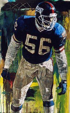 Lawrence Taylor, NY Giants by Stephen Holland. New York Giants Football, Nfl Football Players, Football Art, Football Memes, 49ers Players, Vintage Football, Sport Football, American Football League, National Football League