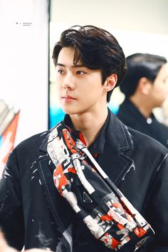 180207 Sehun at Prada Launching Event . Luhan, Kaisoo, Chanbaek, Sehun Oh, Tao Exo, Kris Wu, Top K Pop, Divas, Kim Joon Myeon