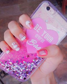 pink, nails and girly image on We Heart It Girly Phone Cases, Diy Phone Case, Iphone Phone Cases, Iphone 8, Just In Case, Just For You, Accessoires Iphone, Cute Cases, Coque Iphone