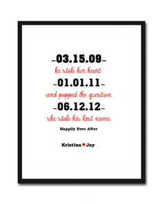 I Love You gift for Husband, Wife. Him, I think I shall get Wedding Date Art, Wedding Signs, Dream Wedding, Best Husband, Gifts For Husband, Husband Wife, Important Dates Sign, I Love You, My Love