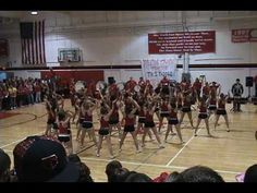 NHS Cheerleader Pep Rally - just goes to show how just because a dance isn't super fast doesn't mean it can't be super awesome! Cheerleading Videos, High School Cheerleading, Cheer Stunts, Cheer Dance, Cheer Routines, Cheer Workouts, Dance Routines, Cheer Coaches, Cheer Mom