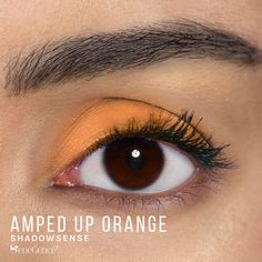 Limited Edition Amped Up Orange ShadowSense is part of the Color Surge Collection.  It is described as a bright, creamy cantaloupe color with a matte finish.  Get the perfect 80's look at your next night at the club. #neon