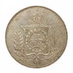 Numismática:Linda Moeda do Império de Prata. Datada de 1866. No valor de 1.000 réis.
