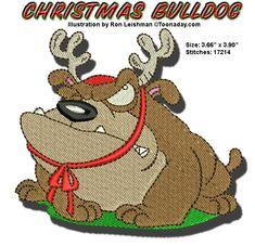 🐣. Offer Xtras! Christmas Bulldog Machine Embroidery Design 4x4 for $6.00 #bulldog #christmas #holiday #ornament #MachineEmbroidery #decoration Embroidery Software, Machine Embroidery Designs, Christmas Snowman, Christmas Holiday, Halloween Embroidery, One Design, Cute Designs, 4x4, Craft Supplies
