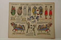 (Pellerin Imagerie D'Epinal-No87 Jeanne D´Arc paper doll | eBay.)   ;-)