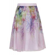 8a806eedf24e1 Ted Baker Women s Glenis Hanging Gardens Midi Skirt - Baby Pink