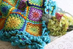 Ravelry: RoseVignettes' Stained Glass Afgan