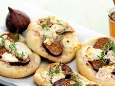 Minitærter med gedeost og figner