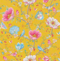Chinese Garden Mustard Yellow wallpaper by Pip Wallpaper