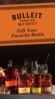 With several different bottles of whiskey, we've got something for everyone on your holiday gift list. From our classic Bulleit Bourbon to the new Bulleit Barrel Strength—there's something for every whiskey lover here. So if you're looking gift ideas, give your friend their favorite bottle, or a few.
