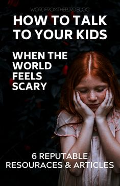 Wanna know what to say and how to say it when it comes to talking to your kids about current world events? Here are 6 great resources for articles on helping your kids cope when things get scary.