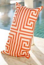 Love this egyptian like, art deco print in Orange!