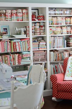sewing room by croskelley, via Flickr