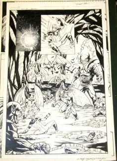 Ultimate Fantastic Four Requiem Page #9 Original Comic Book Art / MARVEL Art