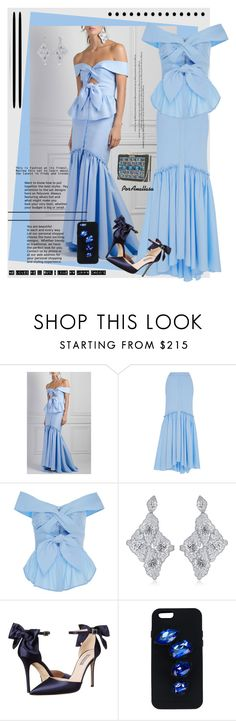 """It'a a blue passion!"" by anallasa ❤ liked on Polyvore featuring Johanna Ortiz, SJP, Jimmy Choo, STELLA McCARTNEY, Elie Saab and anallasa"