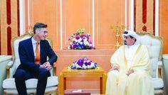 حاكم عجمان يبحث تعزيز العلاقات مع السفير الهولندي - اخبار الامارات العاجلة