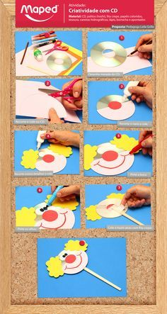 Examples of Clown Art Activities Kids Crafts, Clown Crafts, Circus Crafts, Carnival Crafts, Projects For Kids, Diy For Kids, Clown Party, Circus Birthday, Art N Craft