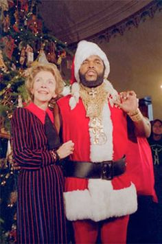 Nancy Reagan and Mr T | Rare and beautiful celebrity photos