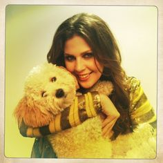 Lady Antebellum's Hillary Scott with her dog, Hobbs. For more stars & their pets: http://www.gactv.com/gac/ar_artists_a-z/article/0,3028,GAC_26071_6053227_01,00.html