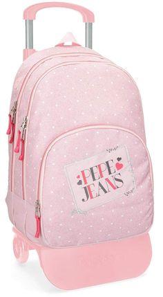 Pepe Jeans 61524N2 Olaia Mochila Escolar, 44 cm, 30.98 litros, Rosa: Amazon.es: Equipaje Fashion, Pink, School Handbags, Baggage, Moda, Fashion Styles, Fashion Illustrations