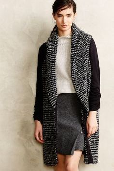 Dolan Stonelayer Shawled Sweatercoat - beautiful topper to holiday outfits #anthrofave #holidaystyle