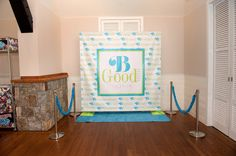 Wordle style Step & repeat for a Turquoise, Lime & White Bat Mitzvah. The Event Of A Lifetime, Inc.