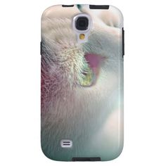 Dreamy close-up portrait of my lovely cat, Little White / Galaxy S4 Case #fomadesign
