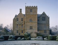 The exterior of Chastleton House, an early Jacobean building. The plan of the house is strictly symmetrical with five gables and a tower at e...