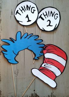 Dr Seuss Inspired Cat in The Hat Photo Booth Party Props by EllaJaneCrafts on Etsy https://www.etsy.com/listing/166270029/dr-seuss-inspired-cat-in-the-hat-photo