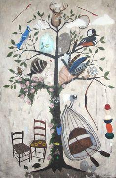 Waitsfield Elementary Art: Trees inspired by Rebecca Rebouche and Gustav Klimt