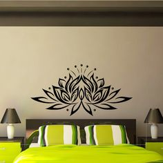 Lotus Wall Decal Vinyl Sticker Yoga Lotus Flower Indian Pattern Wall Decals Murals Bedroom Dorm Yoga Studio Om Wall Art Home Decor Z848