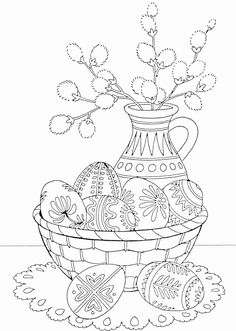 Adult Coloring Pages Easter Lovely Pin by Martha Flora On Kifestők Spring Coloring Pages, Easter Coloring Pages, Coloring Book Pages, Easter Art, Easter Crafts, Easter Printables, Easter Colors, Easter Activities, Quilling