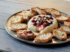 Cedar-planked Brie with Cherry Chutney and Toasted Almonds - 20 Delicious Grill Recipes for Summer